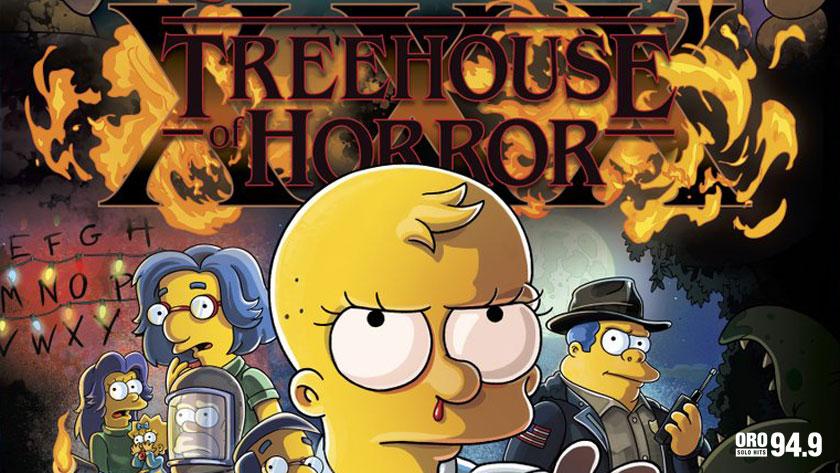 Los Simpson homenajean Stranger Things con póster de su especial de Halloween