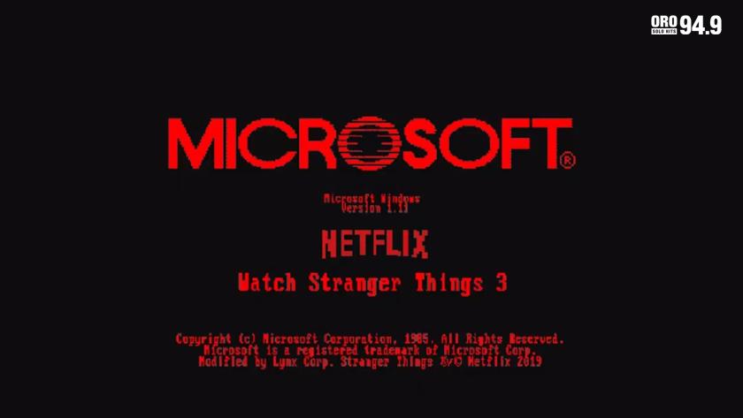 "Microsoft lanza Windows 1.11 inspirado en ""Stranger Things 3"" de Netflix"