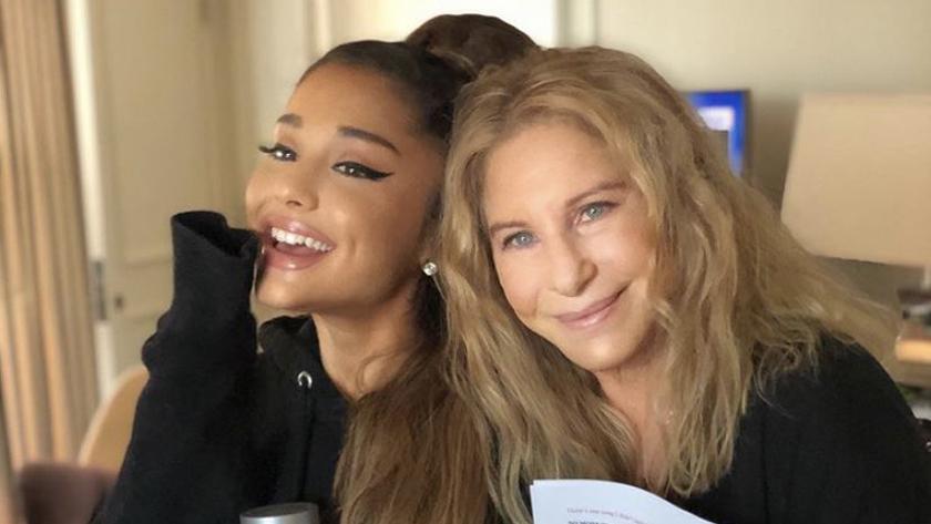 La joven Ariana Grande hace un dueto en vivo con la leyenda Barbra Streisand