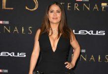Salma Hayek deja impresionados a los asistentes en la premier de los Eternals